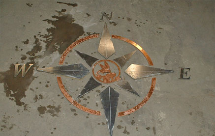 Compass inlay for Patio